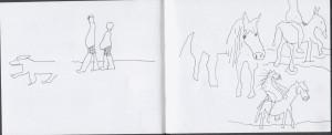 ein pferd auf einem pferd! a horse on a horse